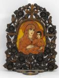Иконостас с дърворезба